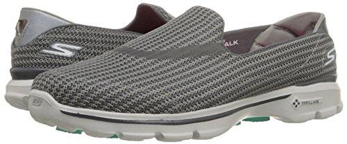 Skechers Gowalk 3 Women's Walking Shoes, Grey (CHAR), 4 E UK