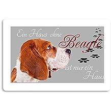 """'Felpudo (estampado diseño de animales perro Felpudo Interior frigo divertido diseño Felpudo (Beagle """""""
