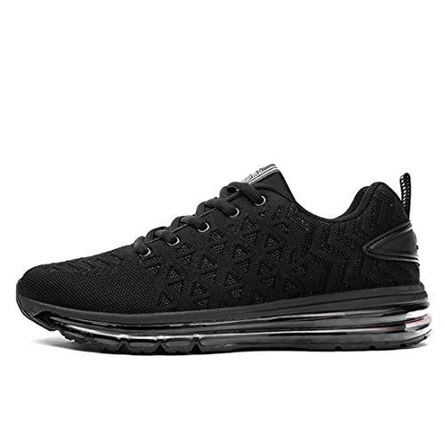issen Sneakers Männliche Tragbare Laufschuhe Männliche Schüler Fitness-Schuhe,Black,39 ()