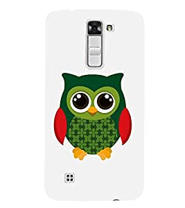 Fiobs Designer Phone Back Case Cover LG K7 :: LG K7 Dual SIM :: LG K7 X210 X210DS MS330 :: LG Tribute 5 LS675 ( Owl Art Colorful Pattern Design )
