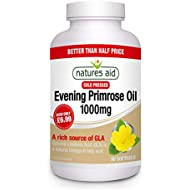Natures Aid Evening Primrose Oil, 1000 mg, 90 Softgel Capsules (Cold Pressed, Provides 80 mg Omega-6 GLA, Made in the UK)