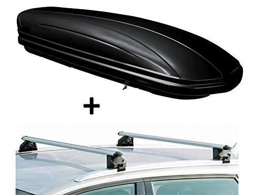 VDP Skibox MAA460G schwarz glänzend + Alu Relingträger VDPCRV107A Mitsubishi ASX 5 Türer ab 2010