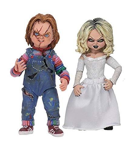 NECA- Chucky, el muñeco diabólico Pack 2 Figuras Ultimate Chucky & Tiffany, (NECA42114)