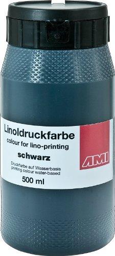 501021 - Linoleum - 500 ml Linoldruckfarbe auf Wasserbasis - Farbton: Schwarz