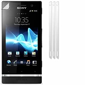 Screen Protector Guards For Sony Xperia U / Pack of 3