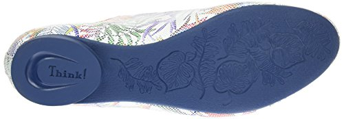 Think! Guad 080270, Scarpe stringate Donna Multicolore (bianco/kombi 97)