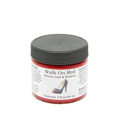 (Red) - Walk On Red Bottom Coat & Restorer Angelus Brand Acrylic Leather Paint for Christian Louboutin Heels Only Contents: (2 fl. oz / 60 ml)