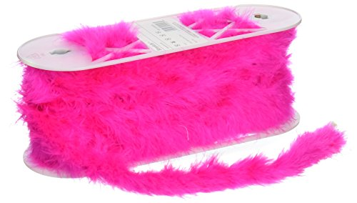 Hot Pink Feather Boa 1-1/2
