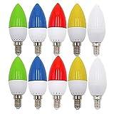 E14 Schraubkappe Farbige Glühbirnen Lampen für Terrasse Party Weihnachten 10er Pack