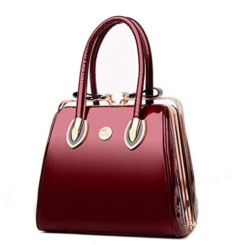 ZJEXJJ Damen Tasche Neue europäische und amerikanische Mode einzelne Schulter Handtasche Handtasche einfache Umhängetasche (Farbe : Rot, größe : A) - Europäische Aktentasche