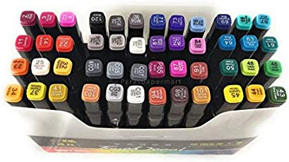 PPM Touch Cool 48 Colours Twin Head Art Markers Touch Cool Pen For Manga And Impression Sketch Marker For Art Lovers Designer And Artist (Black Body)