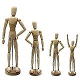 Artina Gliederpuppe Dali Größe 30 cm männliche Zeichenpuppe aus Holz Malhilfe zum Zeichnen Modellpuppe mit Gelenken
