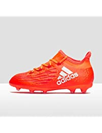 adidas X 16.1 Children's Firm Ground Football Boots, Red, J13