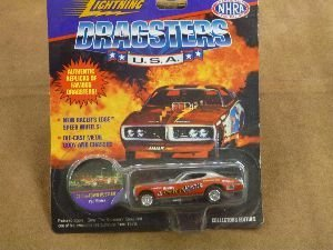 Johnny Lightning Dragsters Die Cast Car PAT Minick 72 CHI Town Hustler by Playing Mantis (Johnny Lightning Diecast Cars)
