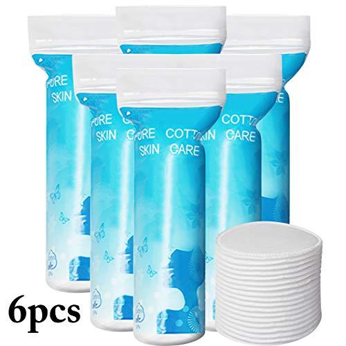 Des tampons de coton, Kapmore 6 Packs Coton rond professionnel double usage coton pad maquillage coton pad