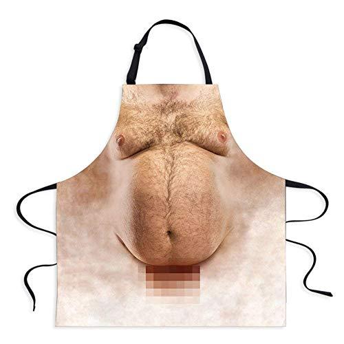 änner Nackte Schürze Küche Kochen Grill Waschbarem Schürze Kreativ Persönlichkeit Lustig Geschenke ()