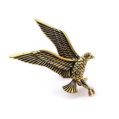 CCJIAC Vintage Eagle Bird Brosche Pins Frauen Männer Metal Hawk Animal Broschen (Hawk Brosche)
