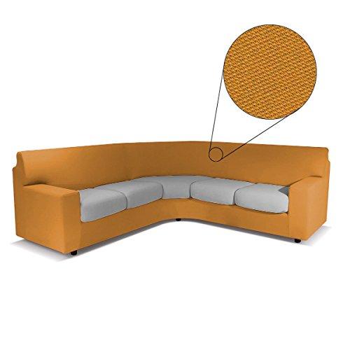 BIANCALUNA Copristruttura Copridivano angolare Suit Genius Max 440 cm R456 Arancione