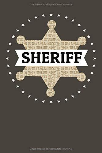 Sheriff Star Deputy Badge: Gepunktetes Notizbuch (6x9 Zoll) Tagebuch mit 120 Seiten für Polizei Detektiv Verbrecher Kostüm Geschenke (Sheriff Deputy Kostüm)