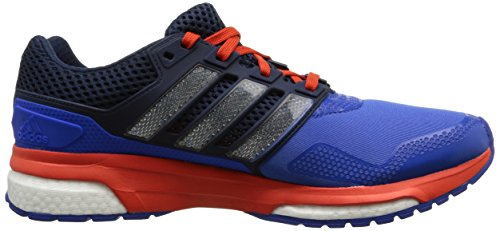 adidas Response Boost 2.0 Techfit, Running homme Bleu (Blue/White/Bold Orange)