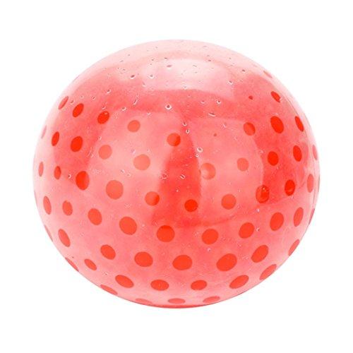 Preisvergleich Produktbild Squishys Squishies, Hansee Spongy Bead Stress Ball Spielzeug Squeezable Stress Squishy Spielzeug Stress Relief Ball (Rot)
