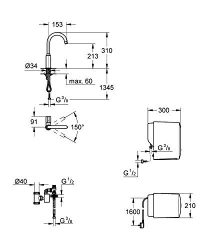 GROHE Red Mono Armatur und Single-Boiler (4 Liter), C-Auslauf 30085000 - 2