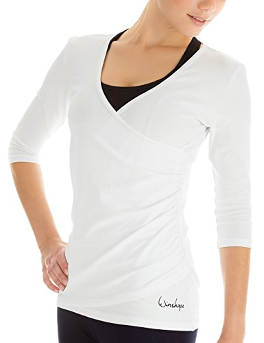 Winshape Damen 3/4-Arm Shirt in Wickeloptik WS3 Fitness Yoga Pilates Freizeit