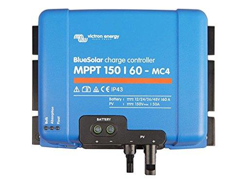 Victron Energy Bluesolar MPPT 150/60-MC4 12/24/48 V, 60 A Solar Laderegler, 1 Stück, SCC010060300