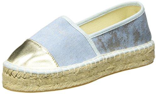 Another Pair of Shoes ElizaaE2, Damen Espadrilles, Mehrfarbig (Pale Gold/Light Blue2033), 39 EU (6 Damen UK) (Gold Espadrille)