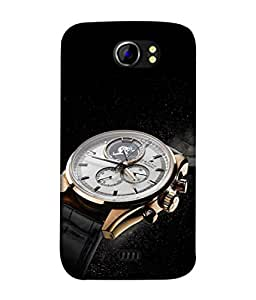 PrintVisa Designer Back Case Cover for Micromax Canvas 2 A110Q :: Micromax A110Q Canvas 2 Plus :: Micromax Canvas 2 A110 (Luxury Expensive Timeless Watch)