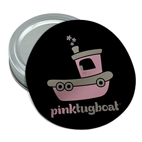 Pink Schlepper (Schiffstyp) Tug Boat Logo Rund Gummi rutschfeste Greifer Deckel Glasöffner (Griff Schlepper)