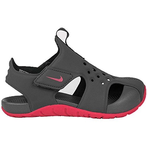 Nike Sunray Protect 2 (TD), Sandlai Sportivi Unisex-Bambini, Multicolore (Anthracite/Rush Pink 001), 26 EU