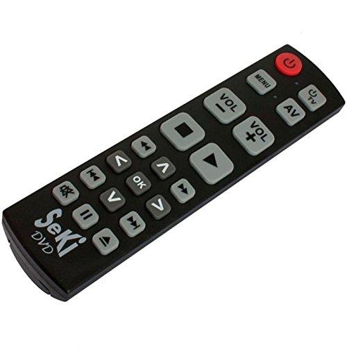 Lernfähige Großtasten-Fernbedienung für DVD- & BlueRay-Player SeKi DVD Schwarz (Dvd-player-fernbedienung)