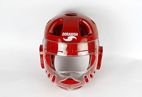 Dorawon, Casco Protector con máscara BUSAN Talla XL, Rojo