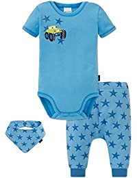 Schiesser Boy's Baby Scarf, Hat and Glove Set pack of 3