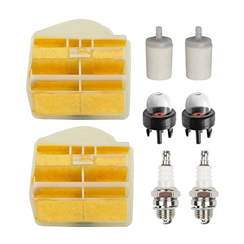 OxoxO New Air Filter with Fuel Filter Spark Plug Tune Up Kit for Husqvarna 445 445E 450 450E Chainsaw