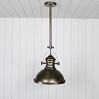 Melody Maison Industrial Gold Ceiling Pendant Light Fitting