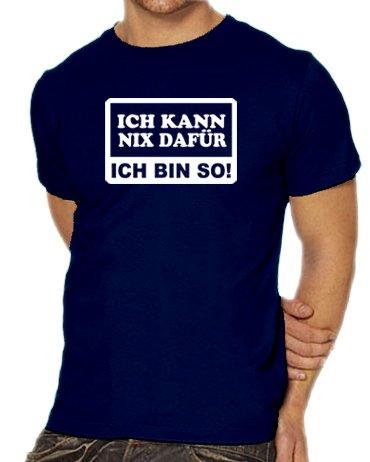 Touchlines Unisex/Herren T-Shirt Ich kann nix dafür - Ich bin so!, navy, XL, (Tshirt Ich Frauen Bin Darth Kostüme Vader)