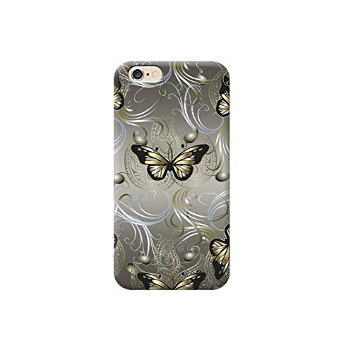 TheBigStock Funda Carcasa para Apple iPhone XR Soft TPU Transparente - A 18 Mariposas de Oro y...