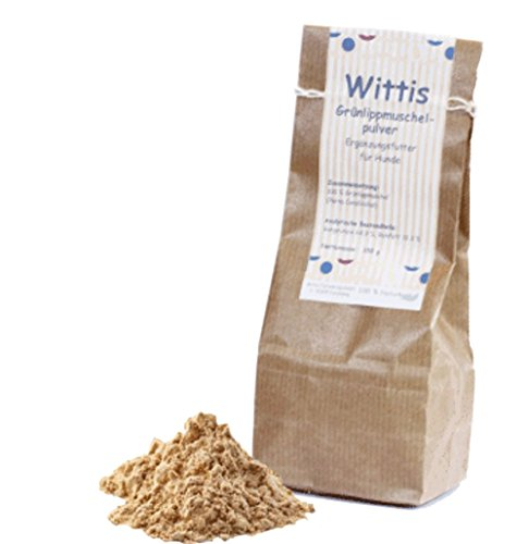 Wittis Supplement Grünlipplippmuschelfleisch 150g, Futterergänzungsmittel für Hunde und Katzen,