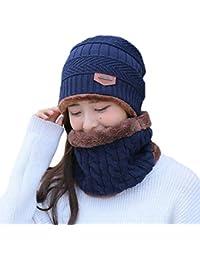 WAFA Winter Unisex Cappello Beanie Sciarpa Outdoor Berretto Antivento  Cappello Lavorato a Maglia Beanie Snood Sci fd53cebbc79f
