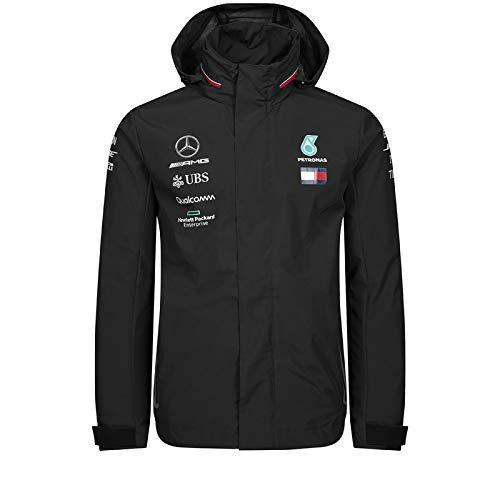 Official Formula 1 Merchandise | Männer | Offizielle Mercedes-AMG Petronas Motorsport 2019 F1TM | Team Regenjacke | Schwarz | Polyester | Größe: XS
