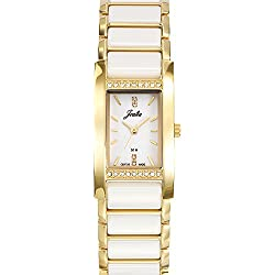 Joalia Women's Analogue Watch with White Dial Analogue Display and Stainless steel plated Bicolour - 631131