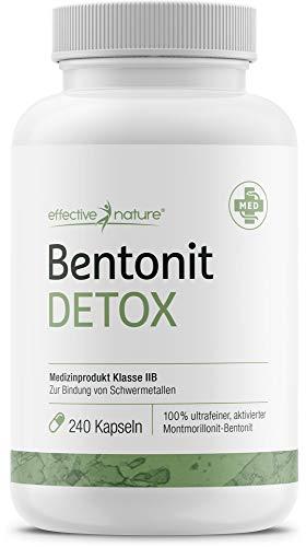 Bentonit Detox Kapseln - Ideal bei Darmreinigung und Darmkuren (Medizinprodukt IIB) - 240 Stück
