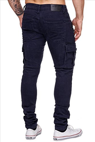 One Public Hommes Cargo Jeans Colored BROOKE Nr.1555 Skinny Fit Blau