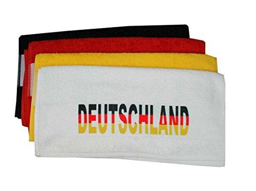 Handtuch schwarz 50x100 cm mit bedruckter Bordüre Deutschland