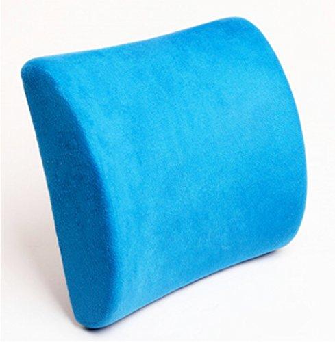 Bleu Memory Foam Seat coussin lombaire Oreiller Retour Aide Pad Pour Office de Sedan de voitures Accueil