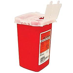 Tiny Kanülenabwurfbox sammeln Box AOLVO Biohazard Kanülenabwurfbox Tattoo Künstler Waste Box, Nadel Zerstörung Entsorgung Container