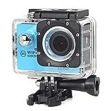 Kcanamgal Bewegungskamera 4K, Wifi-Kamera 96 Fuß-Unterwasserwasserdichter Nocken 2 Zoll LCD-Bildschirm 170 Grad Breiter Betrachtungswinkel,Blue