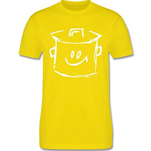 Küche - Kochtopf - Herren Premium T-Shirt Lemon Gelb